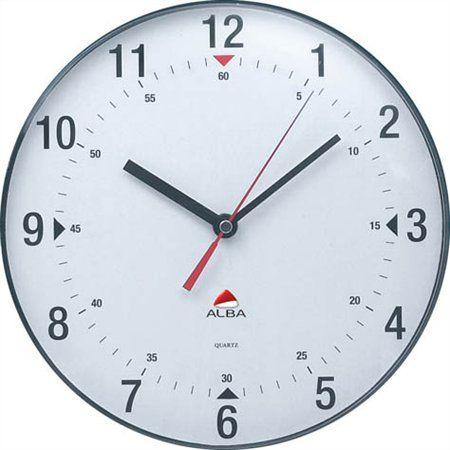 """Nástenné hodiny, 25 cm, ALBA """"Classic"""", priehľadné sivé"""