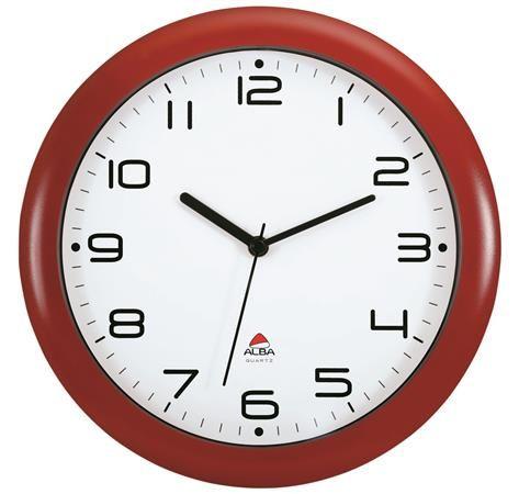 """Nástenné hodiny, 30 cm, ALBA """"Hornew"""", červené"""