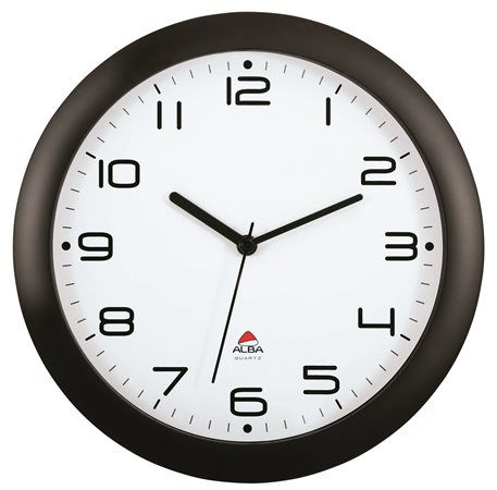 """Nástenné hodiny, 30 cm, ALBA """"Hornew"""", čierne"""