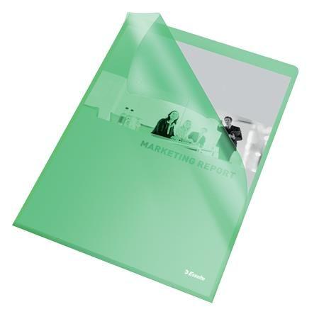 """Obal """"L"""", A4, 105 mikr., drsný povrch, ESSELTE """"Standard"""", zelený"""