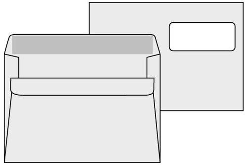 Obalky C5 s okienkom samolepiace, okno vpravo hore