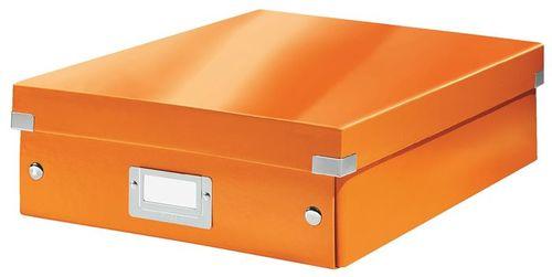 """Odkladací box, organizačný, laminovaný kartón, veľkosť M, LEITZ """"Click&Store"""", oranžový"""
