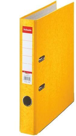 """Pákový šanón, 50 mm, A4, kartón, ESSELTE """"Rainbow"""", žltý"""