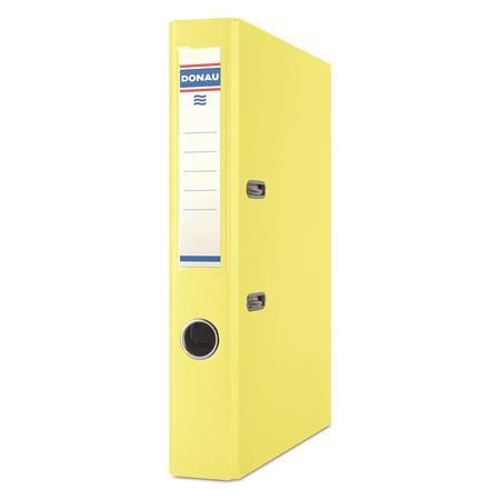 """Pákový šanón, 50 mm, A4, PP/kartón, DONAU """"Rainbow"""", žltý"""