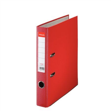 """Pákový šanón, 50 mm, A4, PP/kartón, ochranné spodné kovanie, ESSELTE """"Economy"""", červený"""