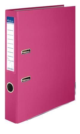 """Pákový šanón, 50 mm, A4, PP/kartón, s ochranným spodným kovaním, VICTORIA, """"Basic"""", ružový"""
