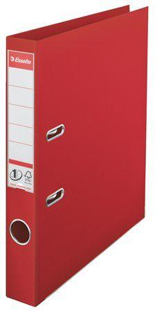 """Pákový šanón, 50 mm, A4, PP/PP, s ochranným spodným kovaním, ESSELTE """"Standard"""", červený"""