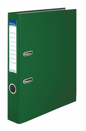 "Pákový šanón, 50 mm, PP/kartón, VICTORIA ""Basic"", zelená"