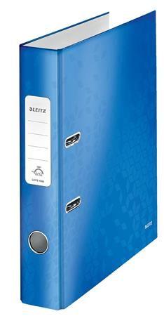 """Pákový šanón, 52 mm, A4, PP/kartón, polakovaný, LEITZ """"180 Wow"""", modrý"""