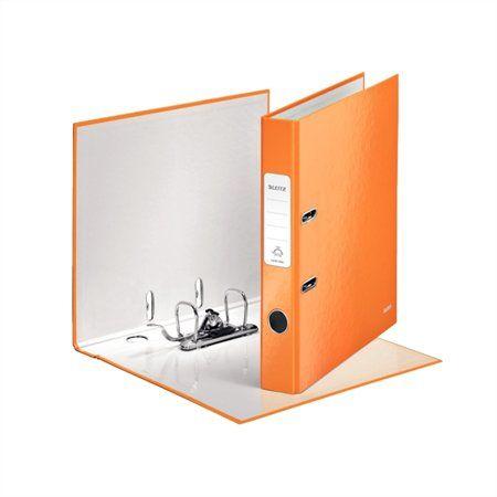 """Pákový šanón, 52 mm, A4, PP/kartón, polakovaný, LEITZ """"180 Wow"""", oranžový"""