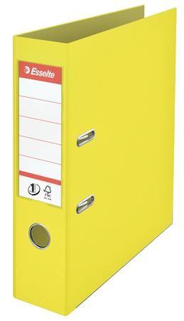 """Pákový šanón, 75 mm, A4, PP, s ochranným spodným kovaním, ESSELTE """"Colour Ice"""", žltý"""