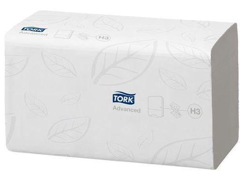 "Papierové utierky, H3 systém, TORK ""Advanced Z"", biele"
