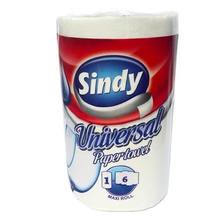 "Papierové utierky, kotúčové, 300 listov, ""Sindy Universal"""