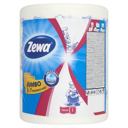 """Papierové utierky, kotúčové, 323 listov, ZEWA """"Jumbo Design"""""""