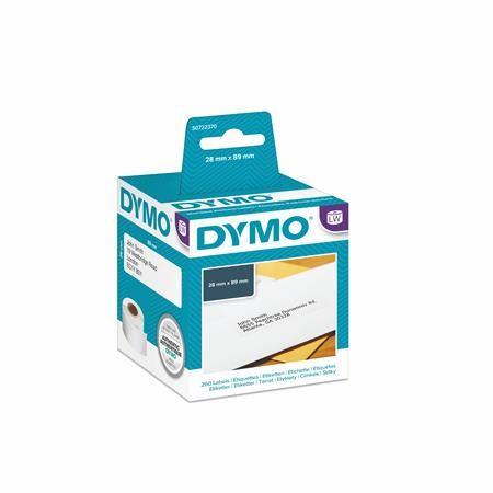 Páska s etiketami ku DYMO EL60, biela, 130ks/kot.