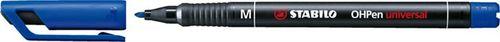 """Permanentný popisovač, 1 mm, STABILO """"OHPen M"""", modrý"""