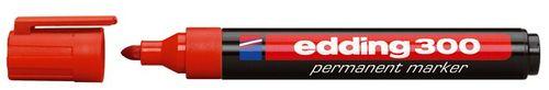 "Permanentný popisovač, 1,5-3 mm, kužeľový, EDDING ""300"", červený"