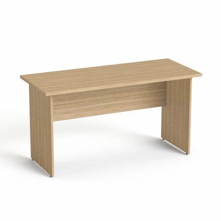 """Písací stôl, s drevenými nohami, 140x70 cm, MAYAH """"Freedom SV-20"""", jaseň"""