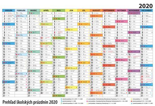 Plánovací kalendár farebný