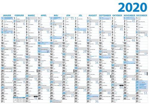 Plánovací kalendár jednolistový