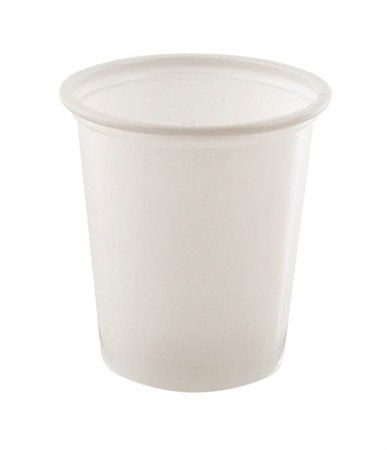 Plastový pohár, biely, 1 dl