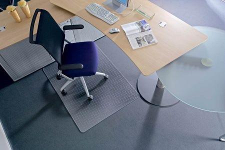 "Podložka na koberec v tvare ""E"", 90x120cm, RS OFFICE ""Roll-o-Grip"""