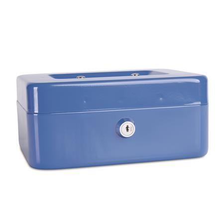 Pokladnička, 20x16x9 cm, DONAU, modrá