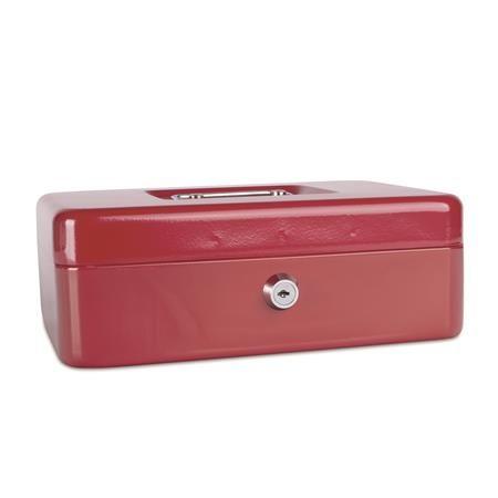 Pokladnička, 25x18x9 cm, DONAU, červená