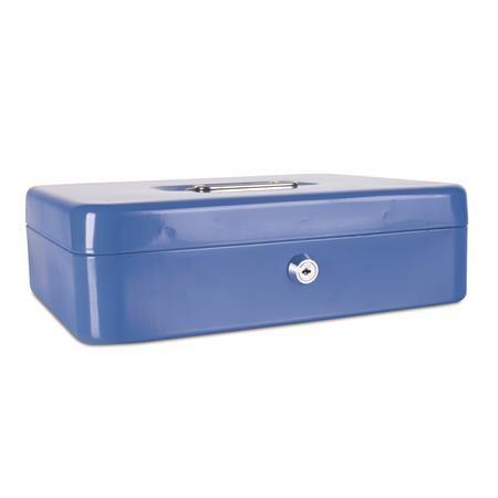 Pokladnička, 30x24x9 cm, DONAU, modrá