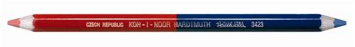 "Poštová ceruzka, šesťhranná, hrubá, KOH-I-NOOR ""3423"", modrá-červená"