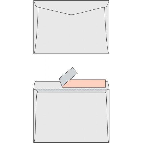 Poštové obálky C5 s páskou, 1000 ks