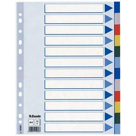 Register, plastový, A4, 12 dielny, ESSELTE