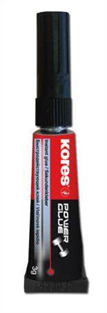 "Sekundové lepidlo, 3 g, KORES ""Power Glue"""