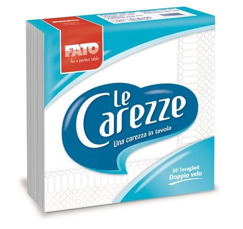 "Servítky, 1/4 ohyb, 33x33 cm, FATO ""Le Carezze"", biela"
