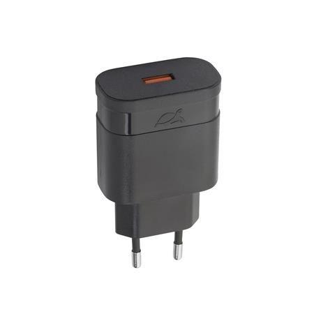 """Sieťová nabíjačka, na rýchle nabíjanie, USB, 1,5-3A, RIVACASE """"VA 4110"""", čierna"""