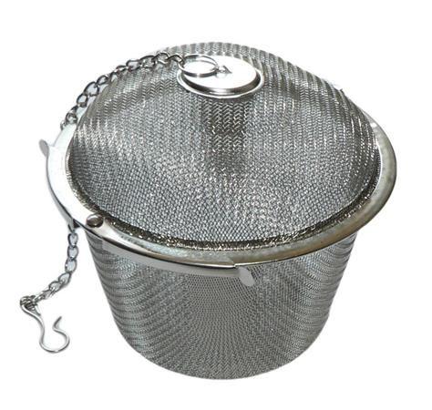 Sitko na čaj, nerezová oceľ, sieťkovaný, 9 cm