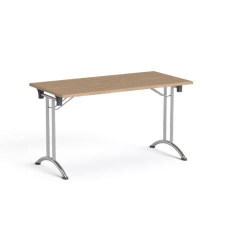 """Skladací konferenčný stôl, skladacie kovové nohy, 130x65 cm, MAYAH """"Freedom SV-93"""", jaseň"""