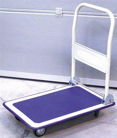Skladateľný prepravný vozík, nosnosť 150 kg, modrý/biely