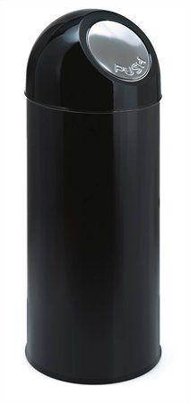 Smetný kôš, kovový, kovový, čierny, 55l