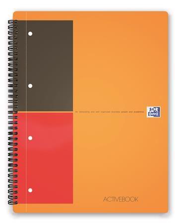 """Špirálový zošit, A4+, linajkový, 80 listov, OXFORD, """"International Activebook"""""""