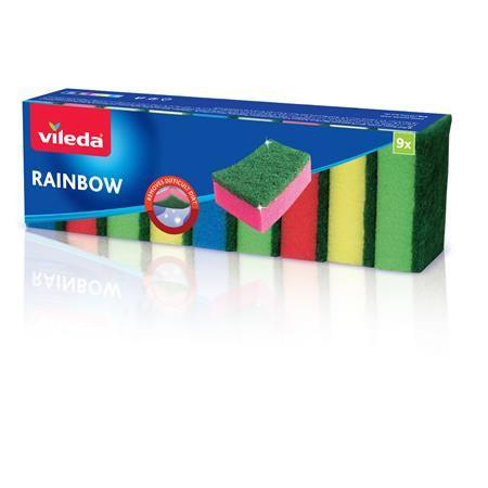"""Špongia """"Rainbow"""", 9 ks/bal"""