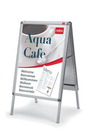 Stojatá tabuľa na plagáty, 70x100 cm, NOBO