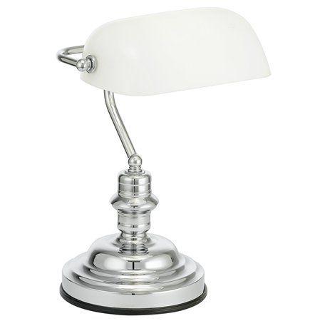 """Stolová lampa, 60 W, """"Banker"""", biela"""