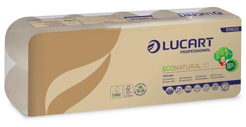 """Toaletný papier, 2 vrstvový, malý kotúč, 19,8 m, LUCART, """"EcoNatural10"""""""