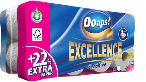 """Toaletný papier, 3-vrstvový, 16 kotúčov, """"Ooops! Excellence"""""""