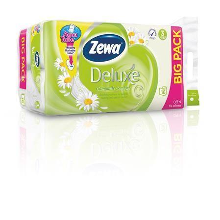 """Toaletný papier, 3 vrstvový, 16 kotúčov/bal, ZEWA """"Deluxe"""", kamilka"""