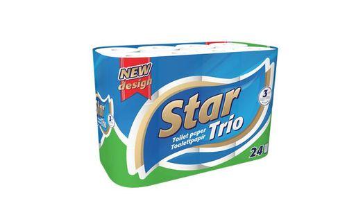 """Toaletný papier, 3 vrstvový, 24 kotúčov, """"Star"""""""