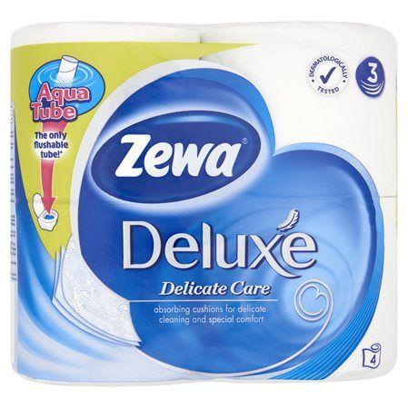 """Toaletný papier, 3 vrstvový, 4 kotúče/bal, ZEWA """"Deluxe"""", biely"""