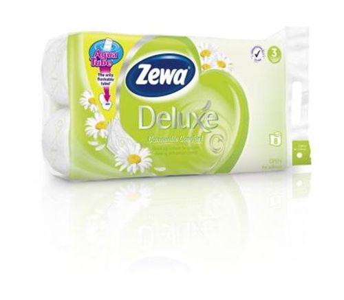 """Toaletný papier, 3 vrstvový, 8 kotúčov/bal, ZEWA """"Deluxe, kamilka"""