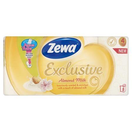"""Toaletný papier, 4 vrstvy, 8 kotúčov/bal, ZEWA """"Exclusive"""", almond milk"""